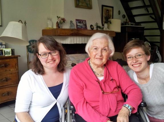 E. and I with grandma