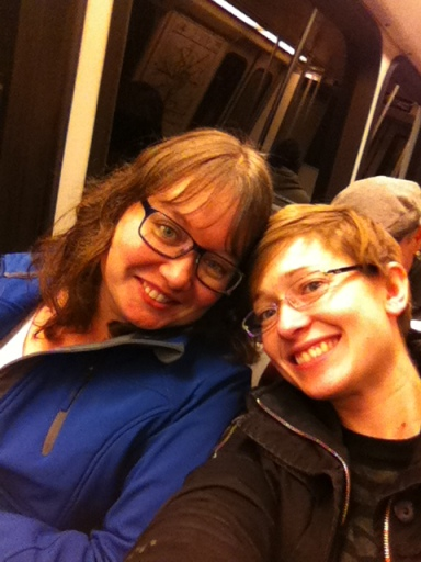 Metro selfies with my sister, E.