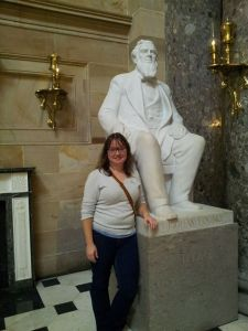 meeting Brigham Young at the Capitol.