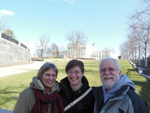 mom, dad, and E. after the Capitol tour.
