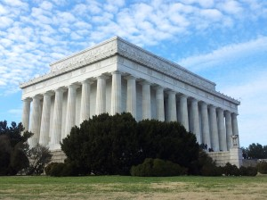 the Lincoln Memorial.