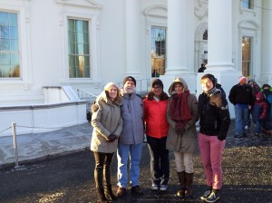 after the White House tour. (Yes, it was that cold.)