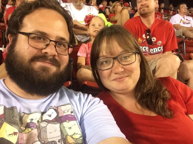 At a Cardinal's game in St. Louis.